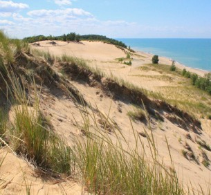 Mt. Baldy along Lake Michigan.