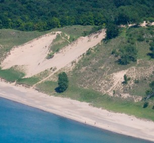 Indiana Dunes along Lake Michigan