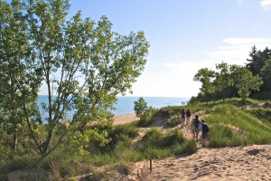 Wonderful views during a family hike at Indiana Dunes State Park.